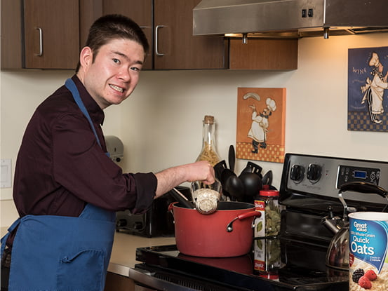 TJ cooking in Possibilities