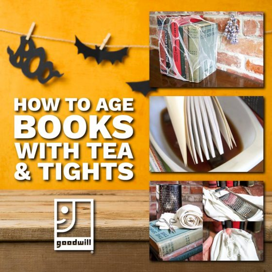 Halloween DIY: How to Age Books with Tea and Tights