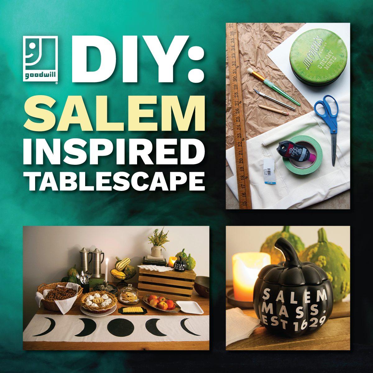 Halloween DIY: Salem-Inspired Spooky Tablescape