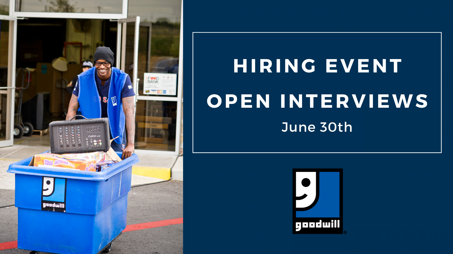 Goodwill to Host Statewide Hiring Event June 30
